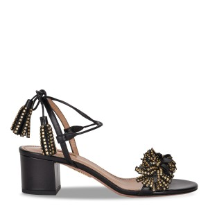 Aquazzura Heels Black Sandals