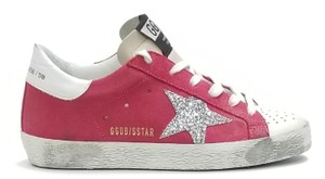 Golden Goose Deluxe Brand G34ws590.o49 Strawberry Suede-Silver Glitter Athletic