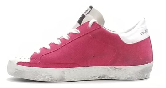 Golden Goose Deluxe Brand G34ws590.o49 Strawberry Suede-Silver Glitter Athletic Image 1