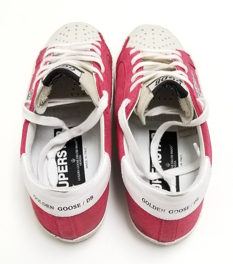 Golden Goose Deluxe Brand G34ws590.o49 Strawberry Suede-Silver Glitter Athletic Image 5