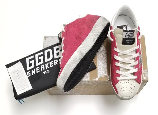 Golden Goose Deluxe Brand G34ws590.o49 Strawberry Suede-Silver Glitter Athletic Image 6