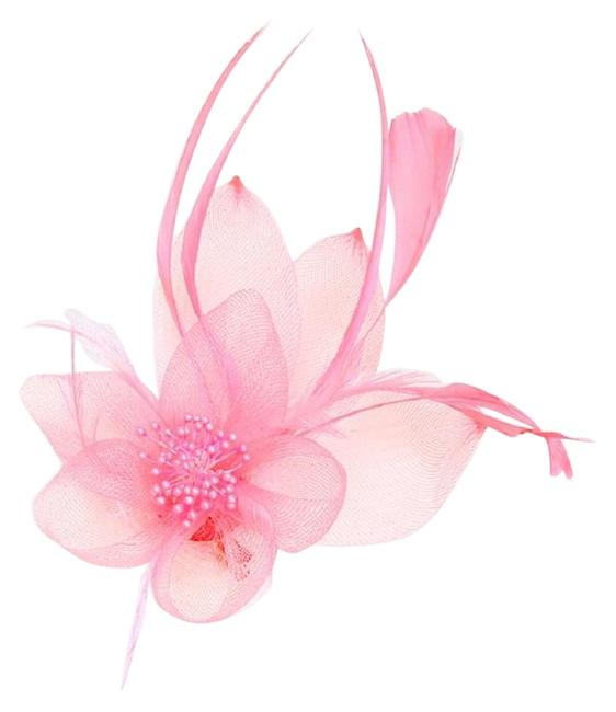 Item - Pink New Dress Formal Dressy Feather Hat