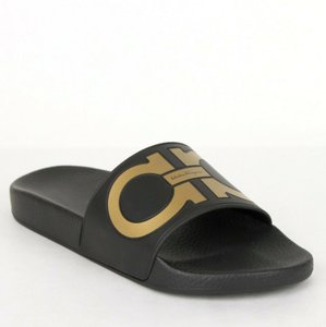 Salvatore Ferragamo Black Men's Rubber Sandal 654655 7m Shoes