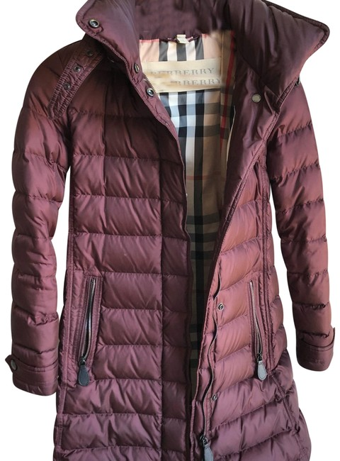 Item - Maroon Down Filled Hooded Puffer Coat Size 0 (XS)