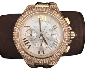 5d2efd51b57f Michael Kors Two Tone Stainless Steel Dwb5b Mkt 5040 Crystal Paved ...