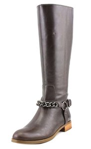 Coach Mid Calf Riding Leather Equesterian Brown Boots