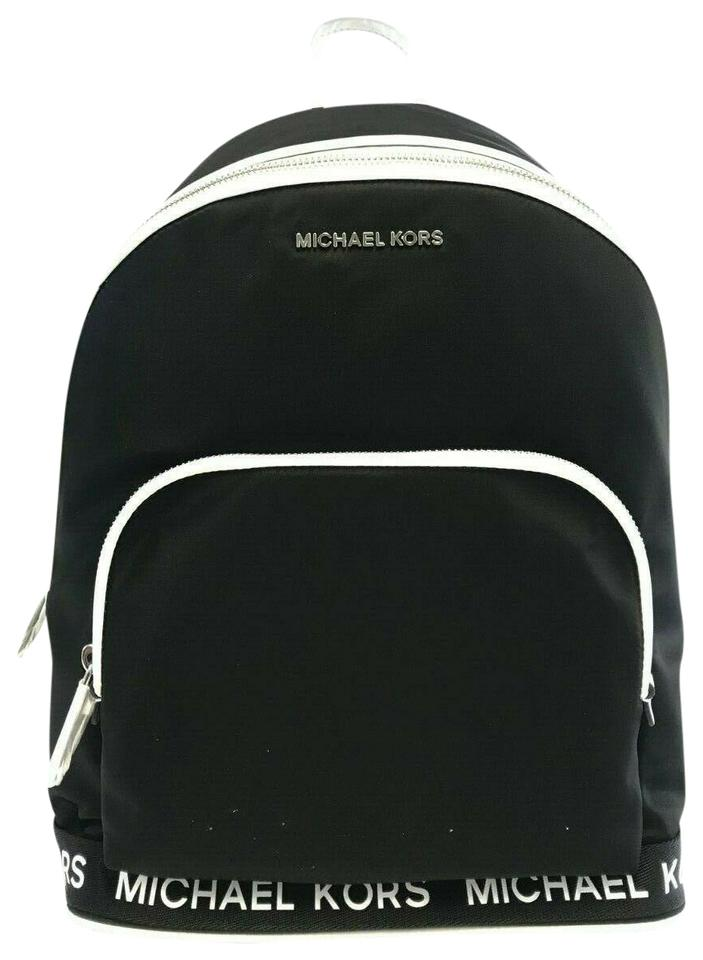 95eca7d17b59 Michael Kors Sport Connie Tape Optic White Backp Black Nylon ...