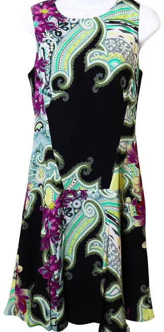 Item - Multicolor Sleeveless Flared Hem Classic Paisley Mid-length Night Out Dress Size 6 (S)