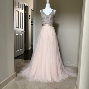 aac59292b3 BHLDN White Blush Ivory Porcelain Silver Silk Sterling and Waters Amore  Tulle