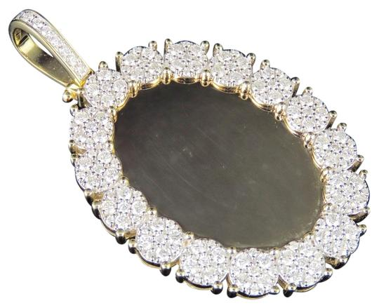 Preload https://img-static.tradesy.com/item/25072733/jewelry-unlimited-10k-yellow-gold-real-diamond-oval-cluster-memory-photo-pendant-35-ct-charm-0-1-540-540.jpg