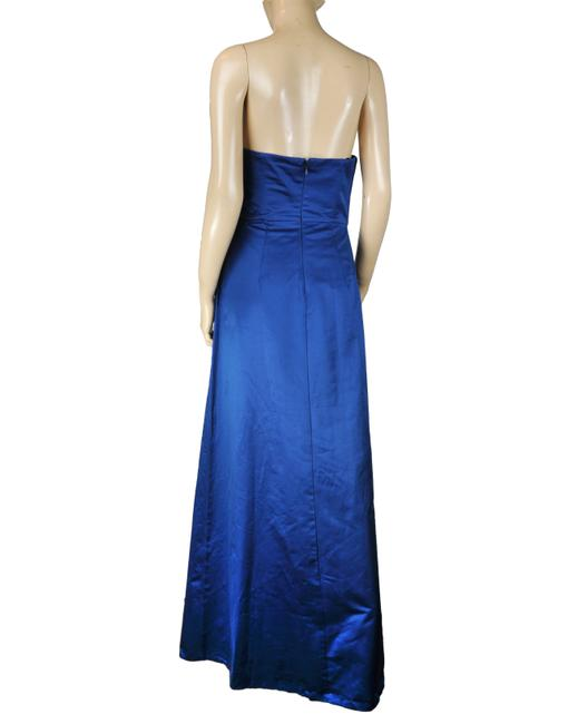 BCBGMAXAZRIA Shimmering Maxi Bow Gown Dress Image 1