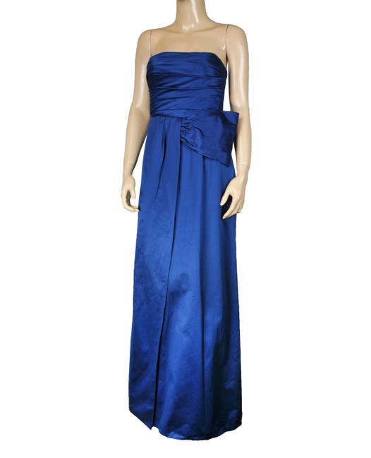 BCBGMAXAZRIA Shimmering Maxi Bow Gown Dress Image 2