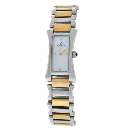 Preload https://img-static.tradesy.com/item/25072795/yellow-gold-silver-new-ladies-eterna-sahida-261041-mop-diamond-quartz-17m-watch-0-0-540-540.jpg