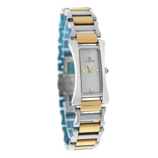Eterna Authentic New Ladies Eterna Sahida 2610.41 Gold MOP Diamond Quartz 17M Image 2
