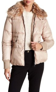 Sam Edelman Faux Fur Puffer Winter Jacket Coat