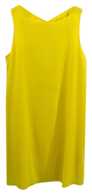 Item - Yellow #177-39 Mid-length Short Casual Dress Size 6 (S)