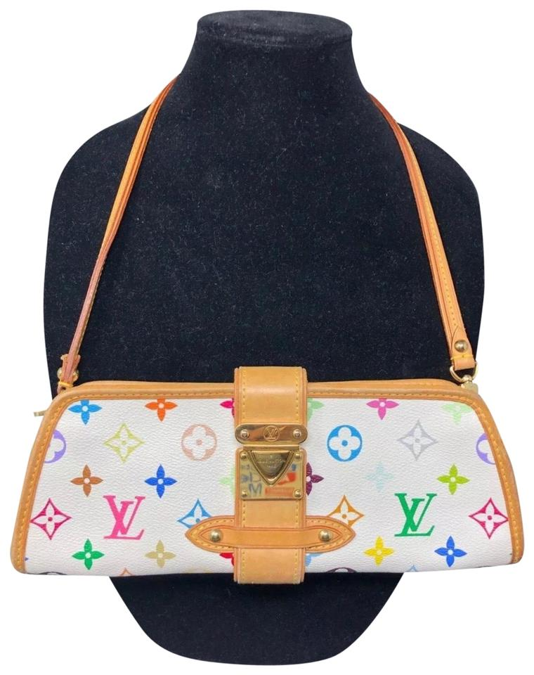 099dc16dd26a Louis Vuitton Shirley Monogram Multicolor White Canvas Clutch - Tradesy