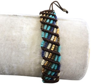 Chan Luu New Auth Chan Luu Turquoise Mix Seed Bead Pull Tie Bracelet