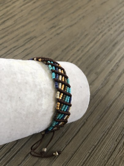 Chan Luu New Auth Chan Luu Turquoise Mix Seed Bead Pull Tie Bracelet Image 1