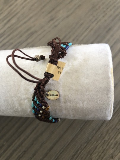 Chan Luu New Auth Chan Luu Turquoise Mix Seed Bead Pull Tie Bracelet Image 3