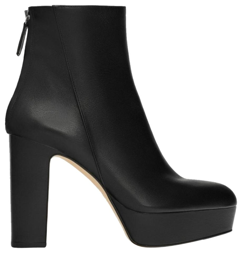 4674898b8c9 Zara Black Platform Leather High Heel Ankle Boots/Booties Size US 9 Regular  (M, B)