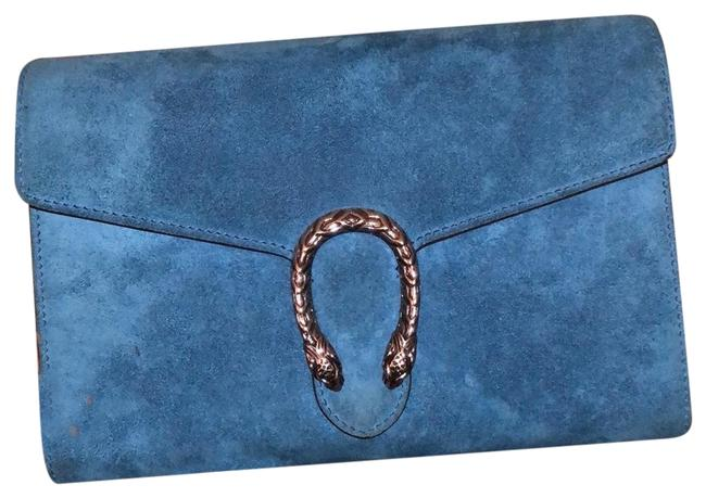 Gucci Dionysus Blue Suede Leather Cross Body Bag Gucci Dionysus Blue Suede Leather Cross Body Bag Image 1