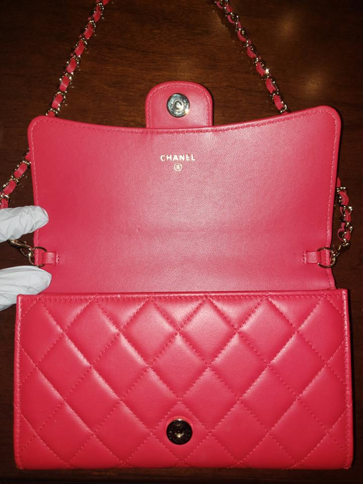 8a937198a97d7 Chanel Quilted Lambskin Gold Hardware Wristlet in Red Image 6. 1234567