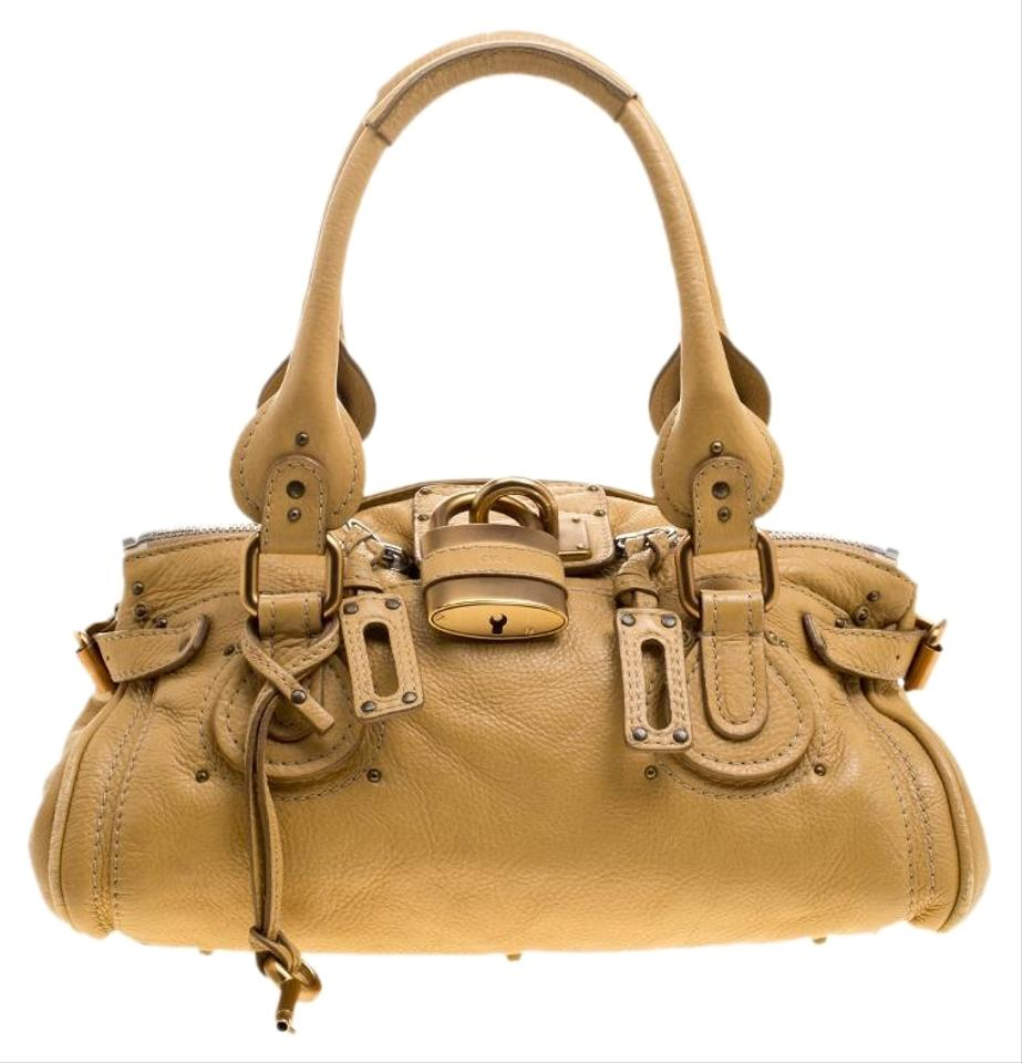 a6bb8f01d472 Chloé Paddington Medium Yellow Leather Satchel - Tradesy