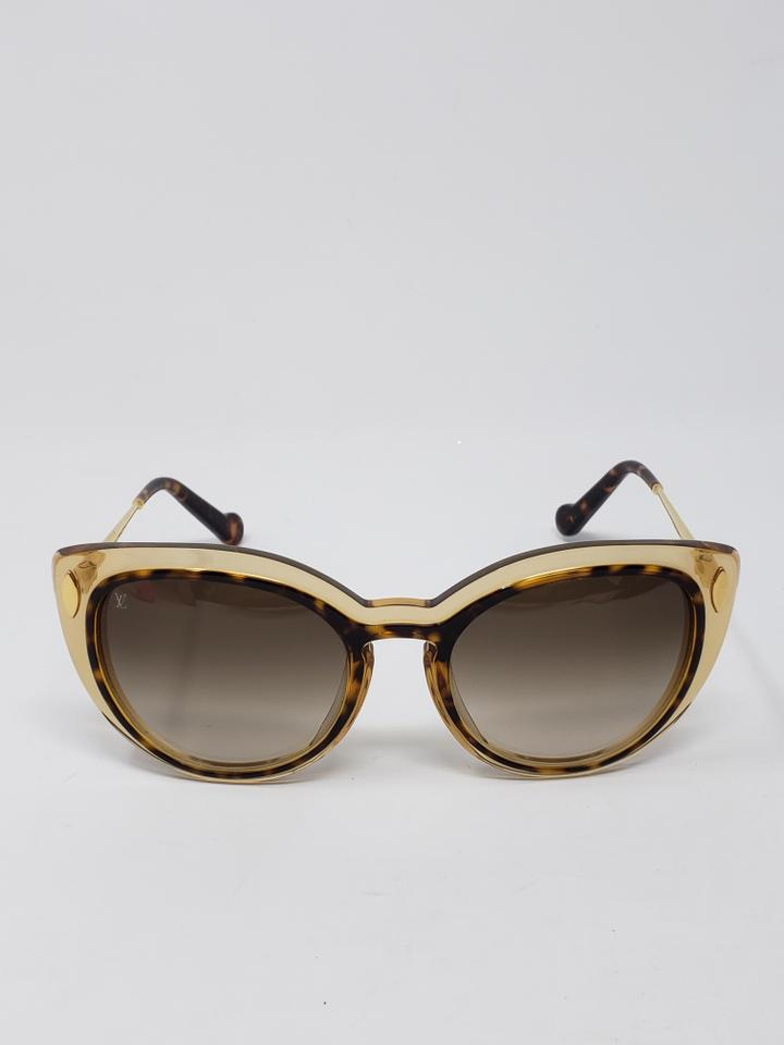 97a5782bc8740 Louis Vuitton Brown tortoiseshell acetate Louis Vuitton Willow cat-eye  sunglasses Image 11. 123456789101112