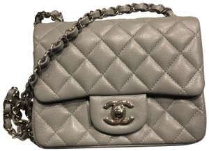 b0fc121c94e0 Grey Chanel Bags - Up to 90% off at Tradesy
