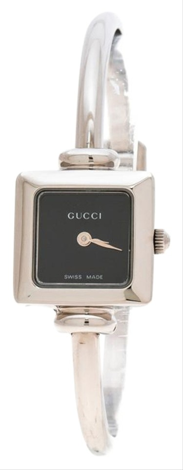 00eb6d5924a Gucci Black Stainless Steel 1900L Women s Wristwatch 19 mm Image 0 ...