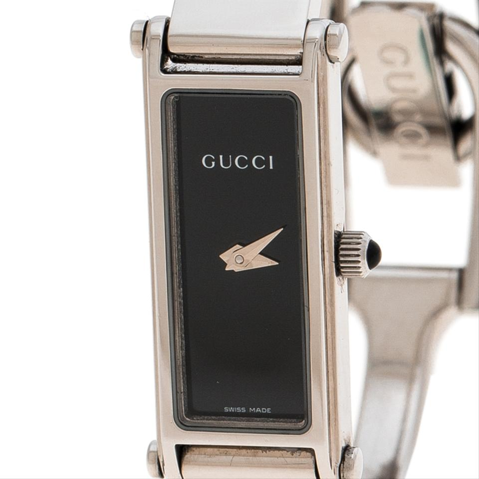 e491a4db6ba Gucci Black Stainless Steel 1500L Women s Wristwatch 12MM Image 5. 123456