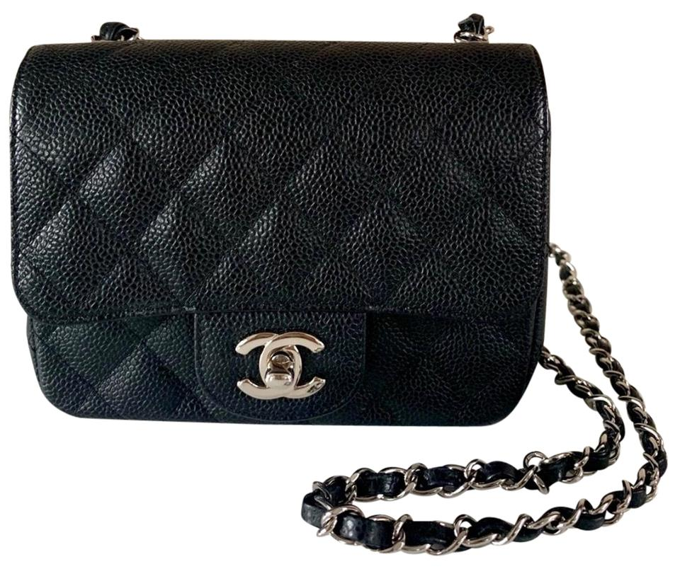 8f62f44a8204 Chanel Mini Flap Black Leather Cross Body Bag - Tradesy