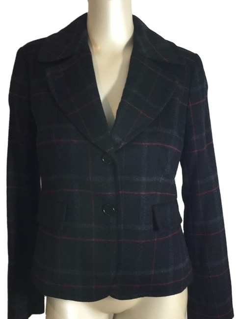 Item - Black Gray and Maroon Colored Jacket Blazer Size 4 (S)