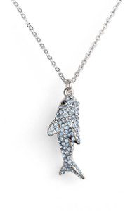 Kate Spade California Dreaming Blue Pave Shark Necklace