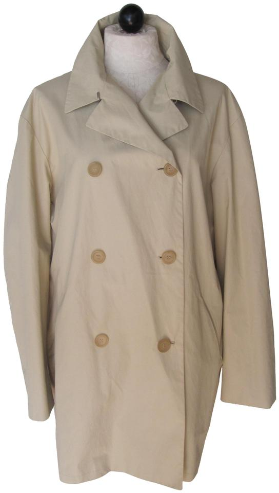 new arrivals 2ccd4 ab0d0 Jil Sander Double Breasted Lined Trench Coat Jacket Size 12 (L)