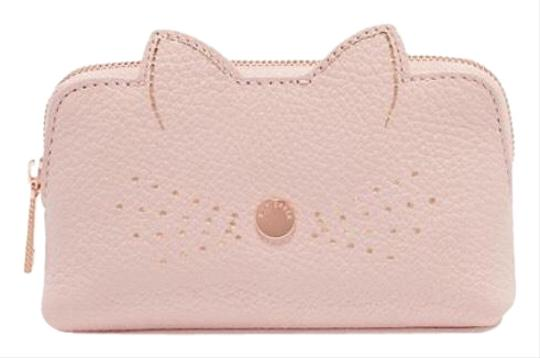 d4e32b6e9bb7 Ted Baker Light Pink Rose Gold Oohan Cat Whiskers Small Leather. New Gucci  Light Pink Leather Cosmetic Bag W Interlocking G S1 338190 5711