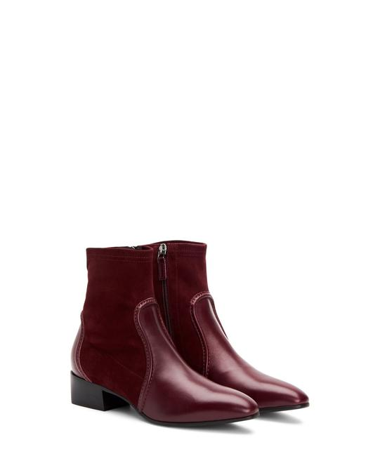 Aquatalia Wine Fannie Leather with Elastic Weatherproof Made In Italy Boots/Booties Size US 7 Narrow (Aa, N) Aquatalia Wine Fannie Leather with Elastic Weatherproof Made In Italy Boots/Booties Size US 7 Narrow (Aa, N) Image 1