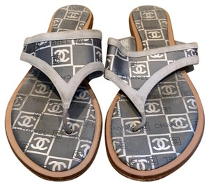Chanel grey and white Sandals