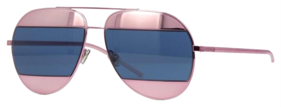 524bb9c49dd9 Dior Dior Split 1 02T8F Aviator Sunglasses in Pink and Blue Image 0 ...