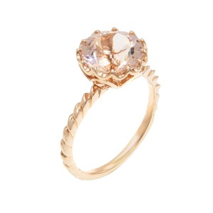 Gavriel's Jewelry Natural Morganite 14K Solid Rose Gold Engagement Ring