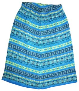 Hanna Andersson Knitted Nordic Fair Isle Sweater Skirt Blue