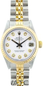 "Rolex White Ladies Datejust 2-tone with Box & Appraisal Watch 6""L x 1""W x 1"""