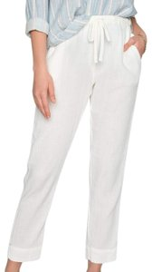 XiRENA Casual Preppy Classic Summer Relaxed Pants Marshmallow