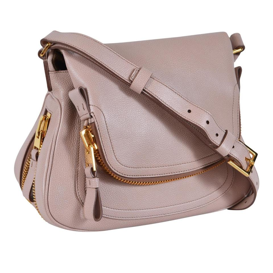 8ff844e87b270 Tom Ford New Women's Jennifer Saddle Purse Blush Leather Cross Body ...