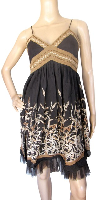 Item - Brown Babydoll Sundress Mid-length Casual Maxi Dress Size 6 (S)