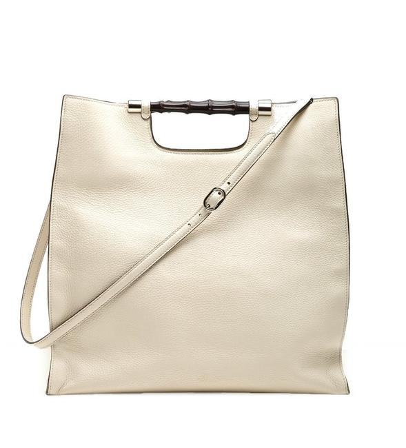 Item - Bamboo Daily Off White Leather Tote