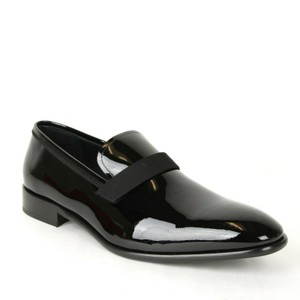 Salvatore Ferragamo Black Men's Antoane Patent Loafer Dress 12 Ee 514670 Shoes