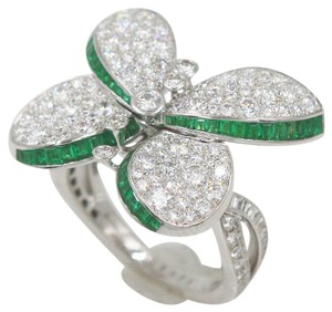 Graff Prince Butterfly Ring with Emeralds and Write Round Diamonds