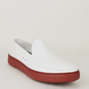 Salvatore Ferragamo White Red Men's Fury Rubber Slip-on Loafer 664518 10 M Shoes